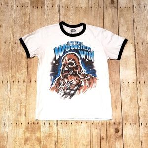 Star Wars Chewbacca Let the Wookiee Win T-shirt M
